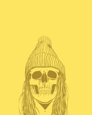 Skull In Hat - Obrázkek zdarma pro 640x960