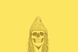 Skull In Hat Background for Android, iPhone and iPad