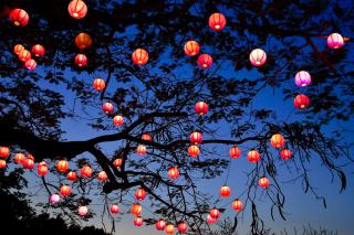 Chinese New Year Lanterns - Obrázkek zdarma pro 1024x600