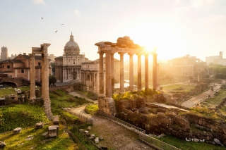 Roman Forum in Rome Italy Picture for Android, iPhone and iPad