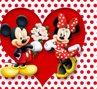 Mickey And Minnie Mouse - Obrázkek zdarma pro iPad