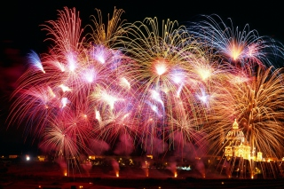 New Years Fireworks Background for Android, iPhone and iPad
