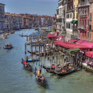 Venice Canals Painting - Obrázkek zdarma pro 128x128