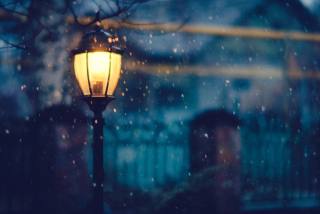 Winter Street Lantern Wallpaper for Android, iPhone and iPad