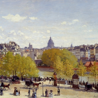 Claude Monet - Quai du Louvre - Obrázkek zdarma pro 320x320