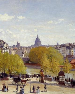 Claude Monet - Quai du Louvre - Obrázkek zdarma pro Nokia C2-02