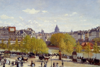 Claude Monet - Quai du Louvre Picture for Android, iPhone and iPad