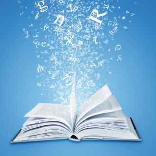 Book And Letters - Obrázkek zdarma pro 1024x1024