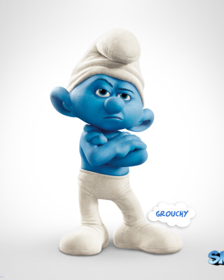 Grouchy The Smurfs 2 - Obrázkek zdarma pro 240x400