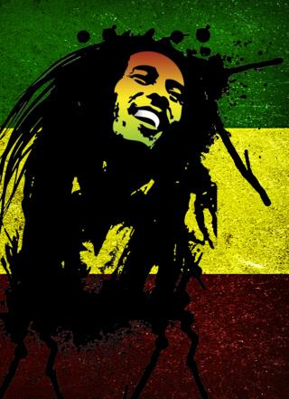 Bob Marley Rasta Reggae Culture - Obrázkek zdarma pro Nokia Asha 202