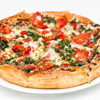 Pizza with spinach - Obrázkek zdarma pro iPad mini 2