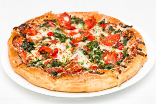 Pizza with spinach - Obrázkek zdarma pro Widescreen Desktop PC 1920x1080 Full HD