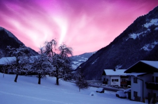Purple Sky Picture for Android, iPhone and iPad