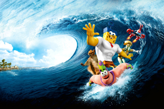 The SpongeBob Movie Sponge Out of Water - Obrázkek zdarma pro Samsung Galaxy Note 4