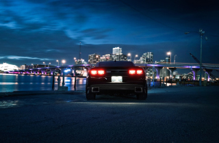 Chevrolet Camaro In Night Background for Android, iPhone and iPad