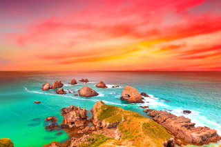 Beautiful Sea Scenery Background for Android, iPhone and iPad