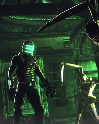 Isaac Clarke in Dead Space battle Necromorphs sfondi gratuiti per Nokia Asha 306