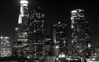 Los Angeles Black And White Background for Android, iPhone and iPad
