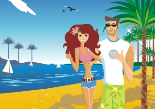 Love On The Beach Wallpaper for Android, iPhone and iPad