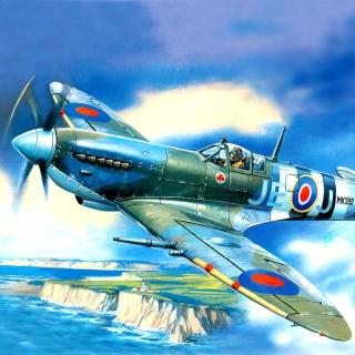 British Supermarine Spitfire Mk IX - Obrázkek zdarma pro iPad mini 2