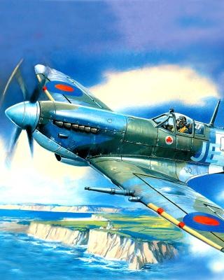 British Supermarine Spitfire Mk IX - Obrázkek zdarma pro iPhone 5
