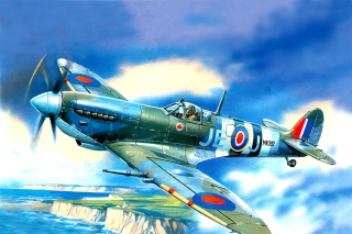 British Supermarine Spitfire Mk IX Background for Android, iPhone and iPad