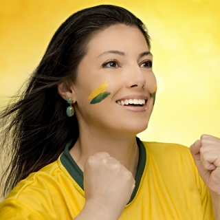 Brazil FIFA Football Cheerleader - Obrázkek zdarma pro iPad 2