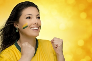 Brazil FIFA Football Cheerleader - Obrázkek zdarma pro Fullscreen Desktop 1024x768