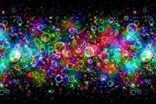 Rainbow Bubbles Background for Android, iPhone and iPad