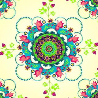 Mandala Flowers - Obrázkek zdarma pro 1024x1024