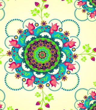 Mandala Flowers - Obrázkek zdarma pro Nokia C-5 5MP
