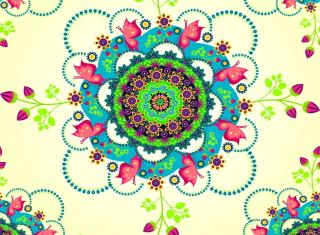 Mandala Flowers - Obrázkek zdarma pro Fullscreen Desktop 800x600