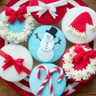 Christmas Pastry Dessert - Obrázkek zdarma pro 208x208