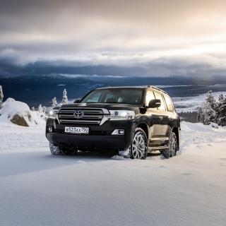 Toyota, Land Cruiser 200 in Snow - Obrázkek zdarma pro iPad mini 2