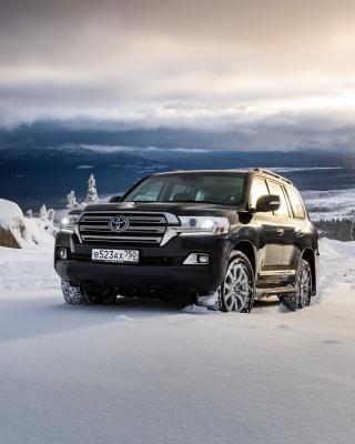 Toyota, Land Cruiser 200 in Snow - Obrázkek zdarma pro Nokia X2-02