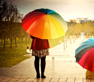 Girl With Rainbow Umbrella - Obrázkek zdarma pro 2048x2048