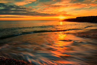 Italy Sunset on Tyrrhenian Sea Picture for Android, iPhone and iPad