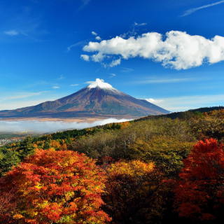 Mount Fuji 3776 Meters - Obrázkek zdarma pro 128x128