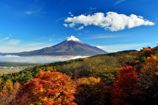 Mount Fuji 3776 Meters Background for Android, iPhone and iPad