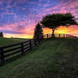 Hills Countryside Sunset - Obrázkek zdarma pro iPad mini