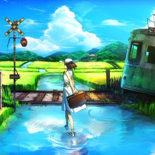 Anime Landscape in Broken City - Obrázkek zdarma pro iPad