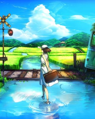 Anime Landscape in Broken City - Obrázkek zdarma pro 240x400