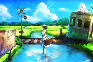 Anime Landscape in Broken City - Obrázkek zdarma pro Android 1920x1408