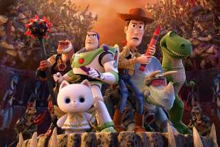 Toy Story That Time Forgot Wide - Obrázkek zdarma pro Sony Tablet S