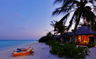 Free Luxury Beach Resort Picture for Android, iPhone and iPad