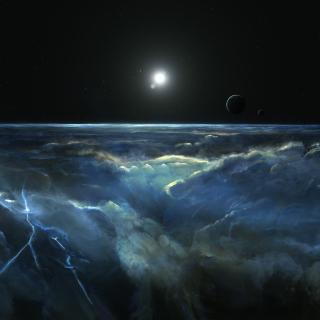 Saturn Storm Clouds - Obrázkek zdarma pro iPad mini
