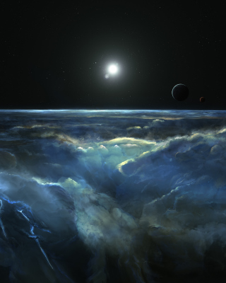 Saturn Storm Clouds - Obrázkek zdarma pro Nokia 300 Asha