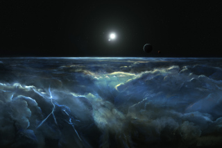 Saturn Storm Clouds - Obrázkek zdarma pro 1024x768