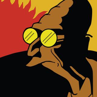 Futurama Professor Farnsworth - Obrázkek zdarma pro iPad mini