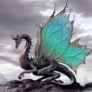 Green Dragon - Obrázkek zdarma pro 2048x2048